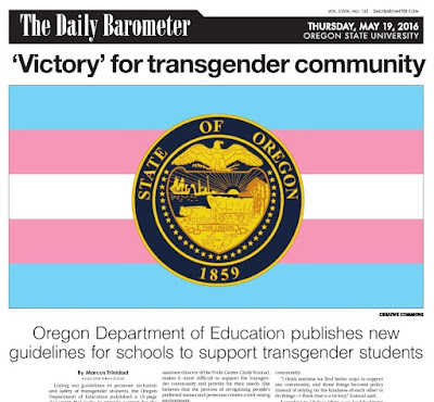 Transgender headline front page Barometer May 19, 2016