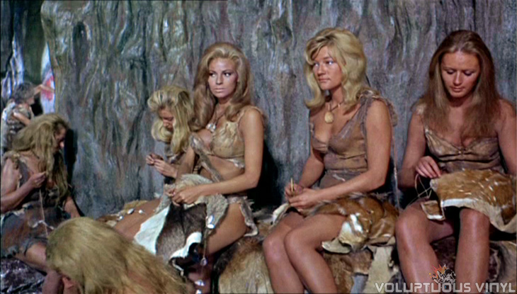 Raquel Welch and cave girls in One Million Years BC