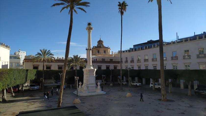 Aspecto actual de la Plaza de la Constitución, más conocida como Plaza Vieja, de Almería