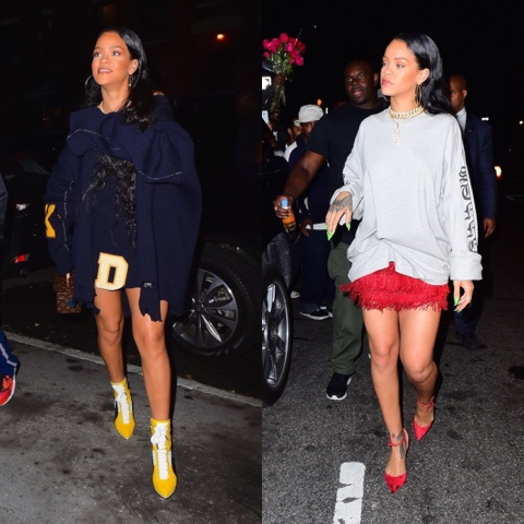 Rihanna wears Vetements and Christian Louboutin