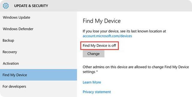 Ritrovare-dispositivo-Windows-10-Perso-Rubato-02