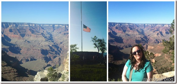 grand canyon, American flag at half mast