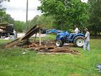 The old barn is demolished