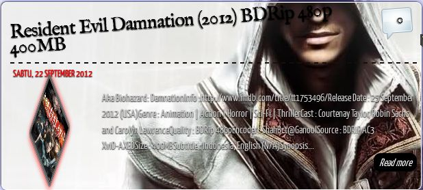 Aka Biohazard: DamnationInfo :http://www.imdb.com/title/tt1753496/Release Date : 25 September 2012 (USA)Genre : Animation | Action | Horror | Sci-Fi , readmore,...