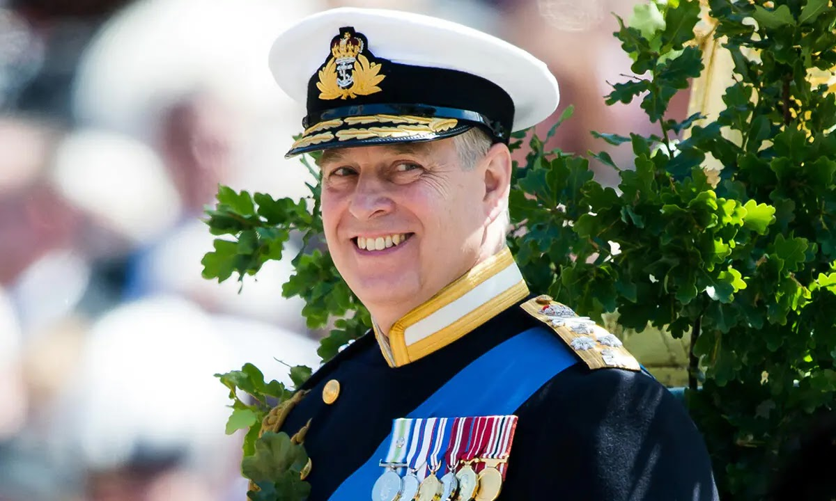 Prince Andrew is all smiles as he drives to meet New Granddaughter