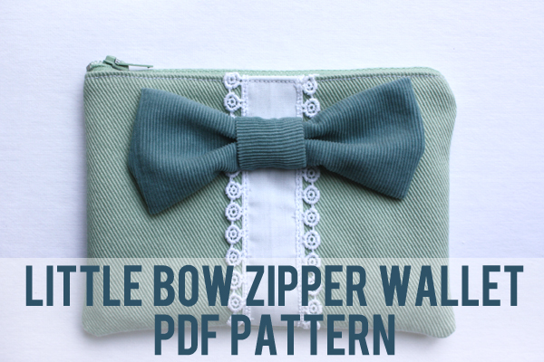 little bow zipper wallet pattern
