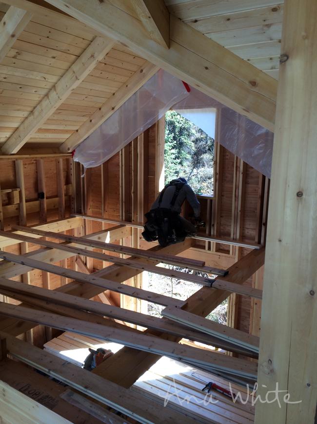 Diy Loft Floor Wood Ceiling For Our Alaska Lake Cabin Ana White
