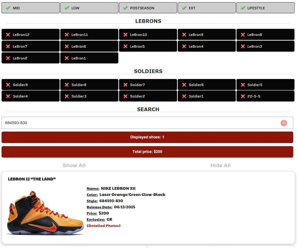 Introducing The Ultimate Nike Lebron Release Database
