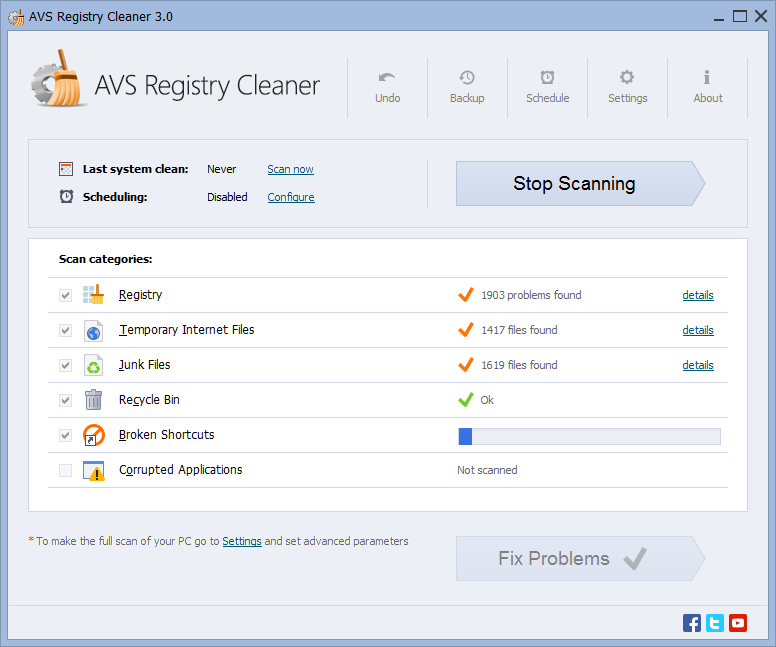 AVS Registry Cleaner 4.1.1.286