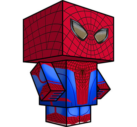 The Amazing SpiderMan Papercraft 2012 Film Version