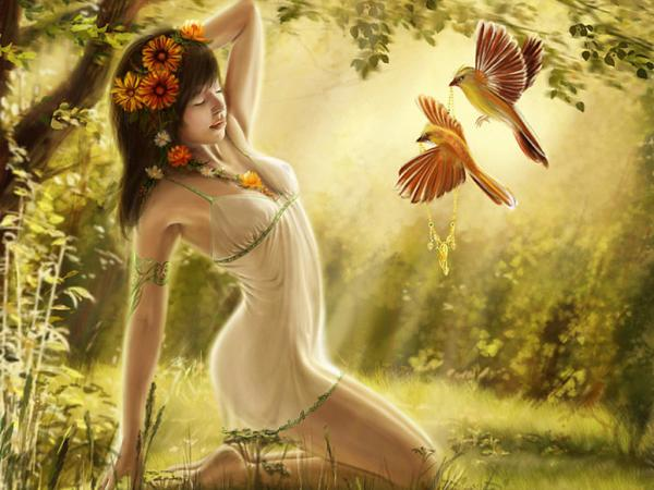 Sunny Morning With Birds, Magic Beauties 3