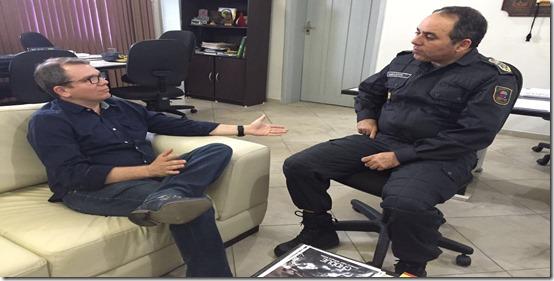 Presidente da FEMURN se reúne com Polícia Militar e pede aumento de efetivo nos municípios