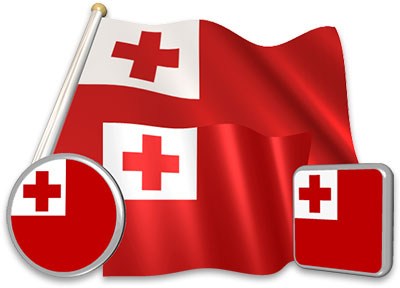 Tongan flag animated gif collection