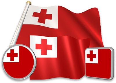 Tongan flag animated gif collection