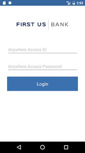 First US Bank Anywhere Access- screenshot thumbnail