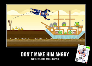 Photo: JT may look good in Angry Birds, but he belongs on the cover of NHL13. Vote now at http://covervote.nhl.com/