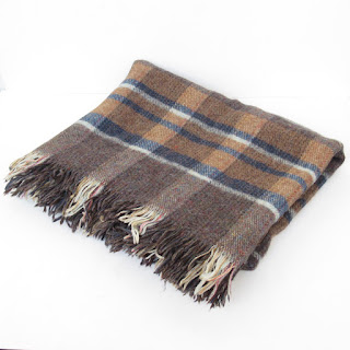 Vintage Highland Home Wool Throw Blanket