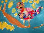 Collage Bird by Valerie