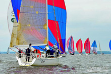 J/109 one-design class sailing Annapolis
