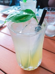 Furlough Toronto: basil and elderflower fizz