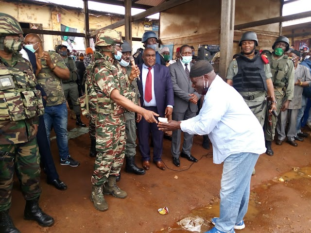 Military, population communes for peace