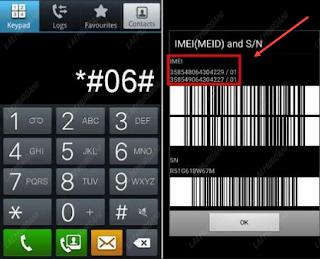 Cara Mengetahui Imei Samsung Dengan Memakai Kode