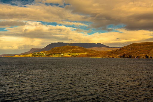 Loch Broom - The coastline from the ferry. From Exploring Scotland's North Coast 500