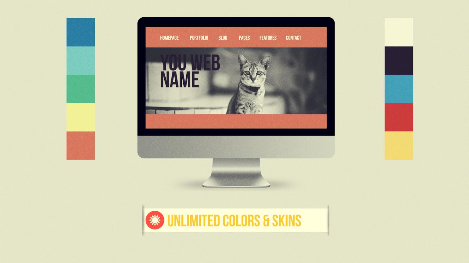 Flat Website Presentation - 6