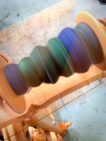Spinning a yarn at the Surrey & Hampshire Makerspace.