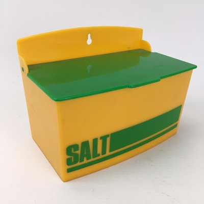 salt cellar in yellow and green
