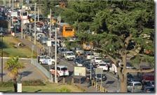 Traffico in via Cardarelli