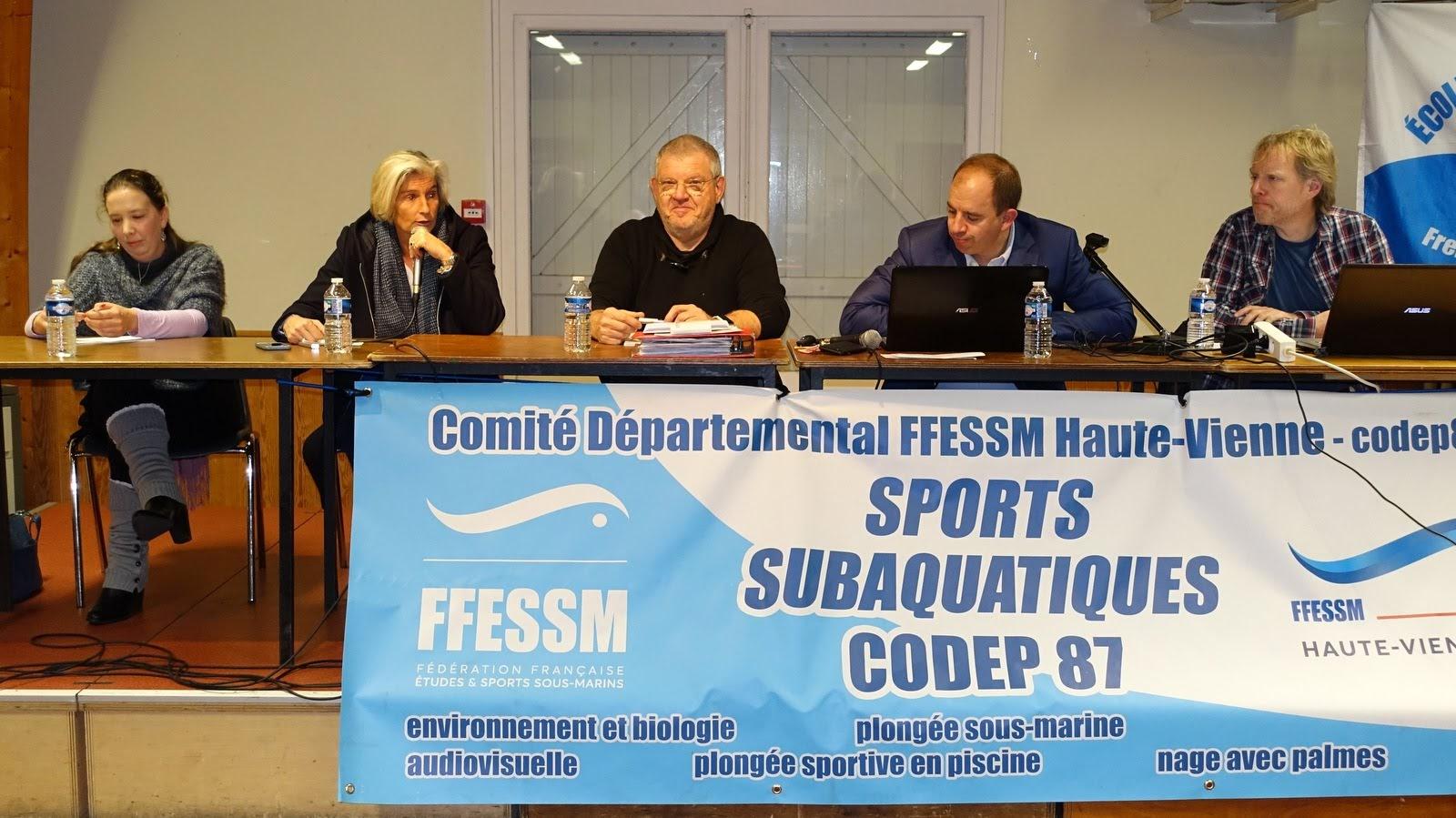 Haute Vienne 87 FFESSM CODEP87 - Sylvie Rozette - Sébastien Allegre - Aurélien Lazeiras