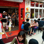 famous oyster omelette restaurant in Taipei in Taipei, T'ai-pei county, Taiwan