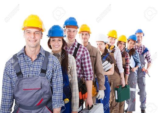 27024839-Gran-grupo-de-trabajadores-de-la-construcci-n-u-obreros-y-mujeres-haciendo-cola-en-una-larga-fila-ll-Foto-de-archivo