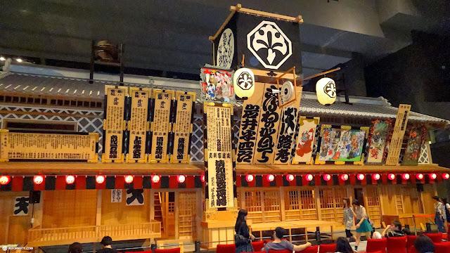 an EDO kabuki theater at the Edo-Tokyo museum in Japan in Tokyo, Tokyo, Japan