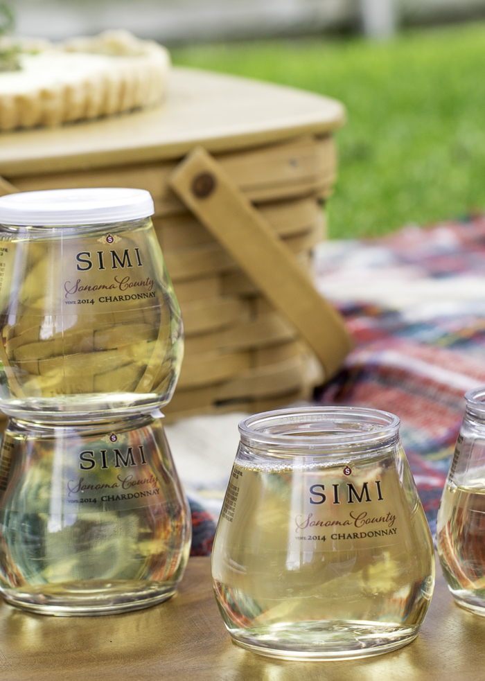 Simi Chardonnay stacked wine cups