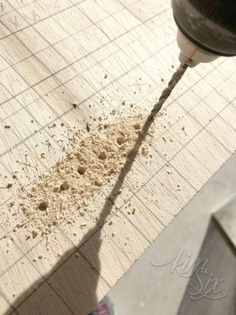 Drilling cross stitch holes