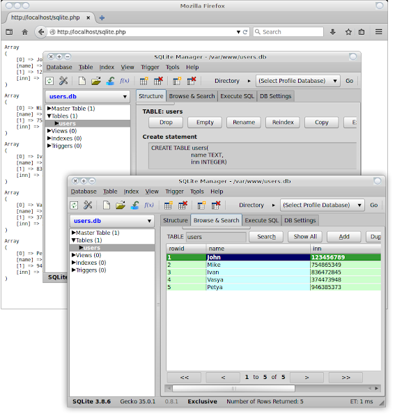 Add-ons SQLite Manager