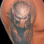 Predator movie tattoo - Shoulder Tattoos Designs