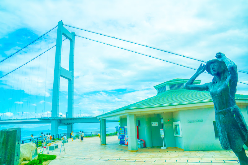 Kurushima Kaikyo Bridge Observation Building statue 1