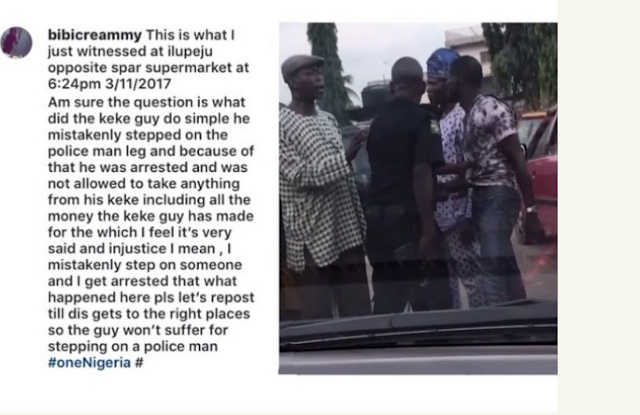 Policeman Assaults & Arrest Man For Stepping On Him (Photo)