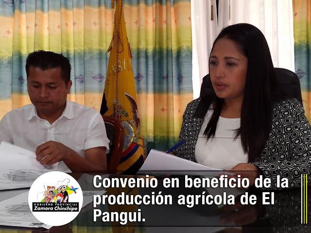 CONVENIO EN BENEFICIO DE LA PRODUCCIÓN AGRÍCOLA DE EL PANGUI