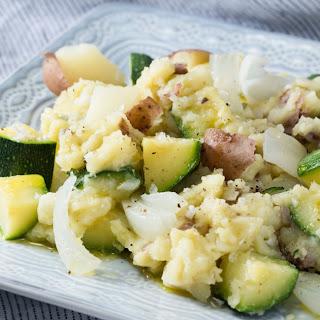 Poached Potato and Zucchini.
