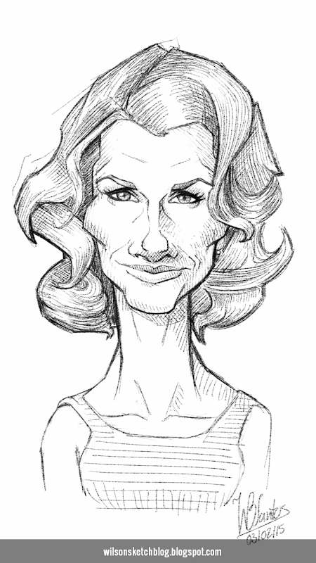 Caricature of Bridget Moynahan.