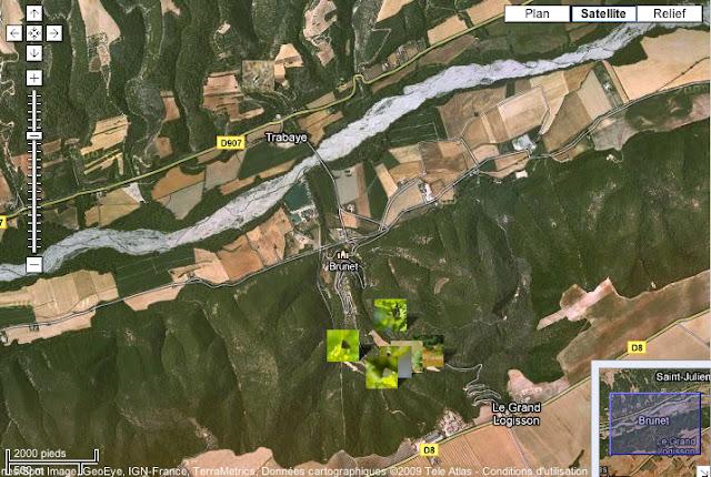Localisation des photos autour de Brunet