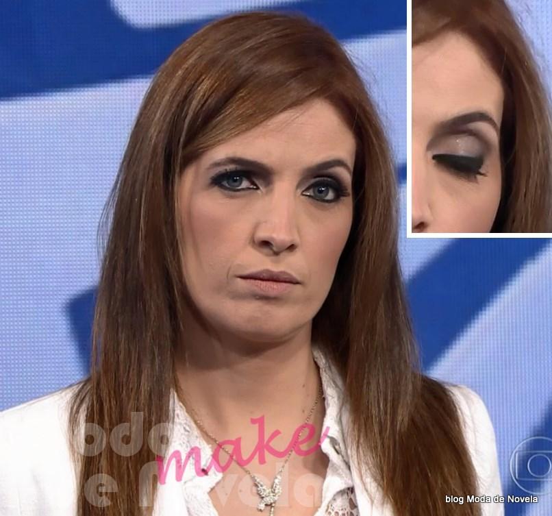 moda do programa Fantástico, maquiagem da Poliana Abritta dia 23 de novembro