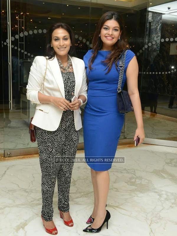 Aishwarya and Darshana at Sam Paul success party at Taj Clubhouse in Chennai.