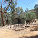 Well maintained toilet at Pinch River Camping area