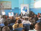 Conférence de presse de Clément Kanku, député national de la RDC le 20/08/2014 au siège de son parti politique à Kinshasa. Radio Okapi/Ph. John Bompengo