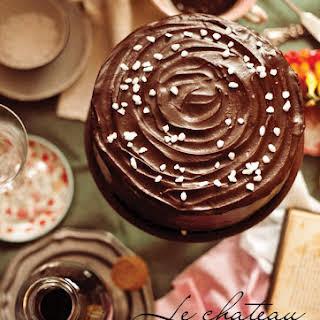Le Chateau d'Amour and a Gluten Free Caramel Ganache Festive Cake.